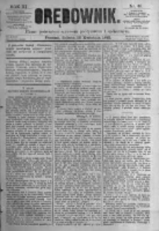 Orędownik: pismo poświęcone sprawom politycznym i spółecznym. 1881.04.16 R.11 nr46
