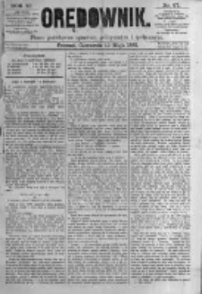 Orędownik: pismo poświęcone sprawom politycznym i spółecznym. 1881.05.12 R.11 nr57