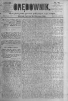 Orędownik: pismo poświęcone sprawom politycznym i spółecznym. 1881.06.18 R.11 nr73