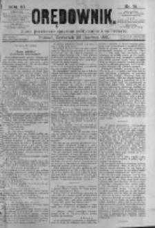 Orędownik: pismo poświęcone sprawom politycznym i spółecznym. 1881.06.23 R.11 nr75