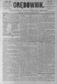 Orędownik: pismo poświęcone sprawom politycznym i spółecznym. 1881.07.02 R.11 nr79