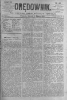 Orędownik: pismo poświęcone sprawom politycznym i spółecznym. 1881.07.09 R.11 nr82
