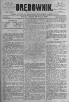 Orędownik: pismo poświęcone sprawom politycznym i spółecznym. 1881.07.30 R.11 nr91
