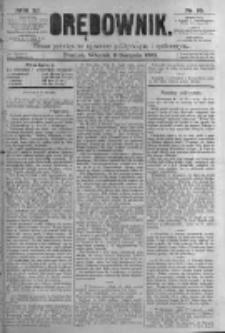 Orędownik: pismo poświęcone sprawom politycznym i spółecznym. 1881.08.09 R.11 nr95