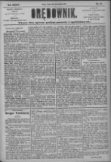 Orędownik: pismo dla spraw politycznych i społecznych 1904.04.06 R.43 Nr78