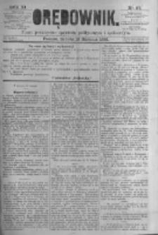 Orędownik: pismo poświęcone sprawom politycznym i spółecznym. 1881.08.13 R.11 nr97