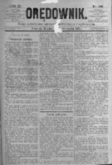Orędownik: pismo poświęcone sprawom politycznym i spółecznym. 1881.08.21 R.11 nr102