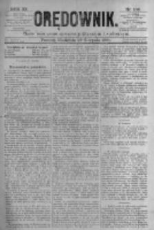Orędownik: pismo poświęcone sprawom politycznym i spółecznym. 1881.08.28 R.11 nr106