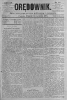 Orędownik: pismo poświęcone sprawom politycznym i spółecznym. 1881.08.30 R.11 nr107