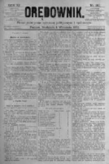 Orędownik: pismo poświęcone sprawom politycznym i spółecznym. 1881.09.04 R.11 nr110