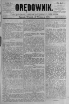 Orędownik: pismo poświęcone sprawom politycznym i spółecznym. 1881.09.13 R.11 nr115