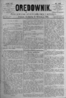 Orędownik: pismo poświęcone sprawom politycznym i spółecznym. 1881.09.18 R.11 nr118