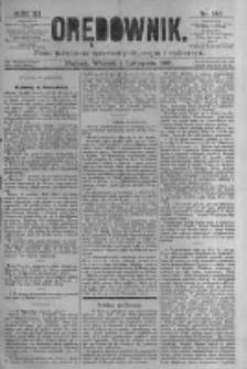 Orędownik: pismo poświęcone sprawom politycznym i spółecznym. 1881.11.01 R.11 nr143