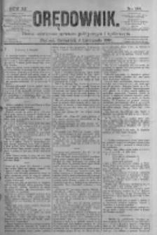 Orędownik: pismo poświęcone sprawom politycznym i spółecznym. 1881.11.03 R.11 nr144