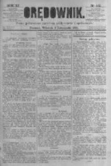 Orędownik: pismo poświęcone sprawom politycznym i spółecznym. 1881.11.08 R.11 nr147