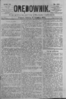 Orędownik: pismo poświęcone sprawom politycznym i spółecznym. 1881.12.17 R.11 nr169