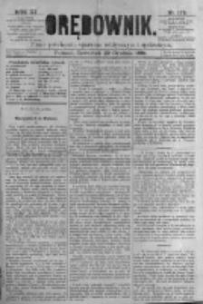 Orędownik: pismo poświęcone sprawom politycznym i spółecznym. 1881.12.22 R.11 nr172