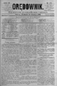 Orędownik: pismo poświęcone sprawom politycznym i spółecznym. 1881.12.25 R.11 nr174