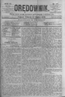 Orędownik: pismo poświęcone sprawom politycznym i spółecznym. 1881.12.27 R.11 nr175