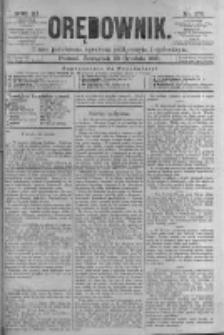 Orędownik: pismo poświęcone sprawom politycznym i spółecznym. 1881.12.29 R.11 nr176