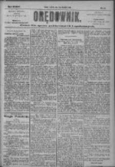Orędownik: pismo dla spraw politycznych i społecznych 1904.04.21 R.34 Nr91