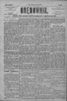 Orędownik: pismo dla spraw politycznych i społecznych 1904.07.12 R.34 Nr157