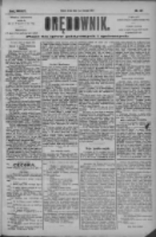 Orędownik: pismo dla spraw politycznych i społecznych 1904.08.17 R.34 Nr187