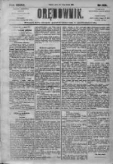 Orędownik: pismo dla spraw politycznych i społecznych 1905.08.15 R.35 Nr185