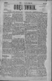 Orędownik: pismo dla spraw politycznych i społecznych 1905.08.20 R.35 Nr189