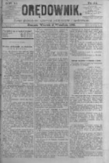 Orędownik: pismo poświęcone sprawom politycznym i spółecznym. 1881.09.06 R.11 nr111