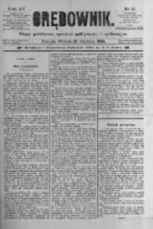 Orędownik: pismo poświęcone sprawom politycznym i spółecznym 1885.01.20 R.15 Nr15