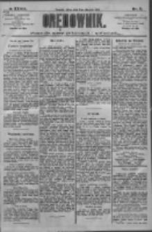 Orędownik: pismo dla spraw politycznych i społecznych 1909.01.08 R.39 Nr5