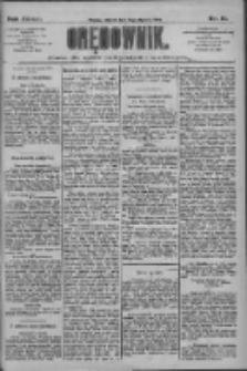 Orędownik: pismo dla spraw politycznych i społecznych 1909.01.19 R.39 Nr14