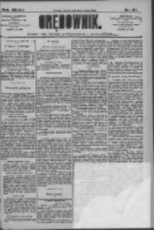 Orędownik: pismo dla spraw politycznych i społecznych 1909.02.16 R.39 Nr37