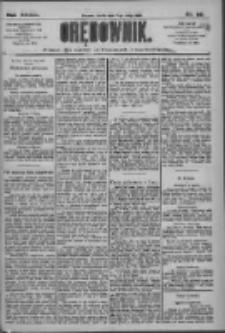 Orędownik: pismo dla spraw politycznych i społecznych 1909.02.17 R.39 Nr38
