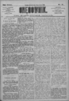 Orędownik: pismo dla spraw politycznych i społecznych 1909.03.28 R.39 Nr71