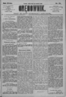 Orędownik: pismo dla spraw politycznych i społecznych 1909.04.02 R.39 Nr75