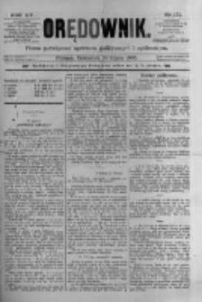 Orędownik: pismo poświęcone sprawom politycznym i spółecznym 1885.07.30 R.15 Nr171