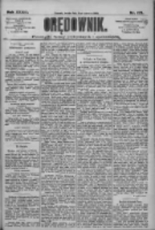 Orędownik: pismo dla spraw politycznych i społecznych 1909.06.09 R.39 Nr129