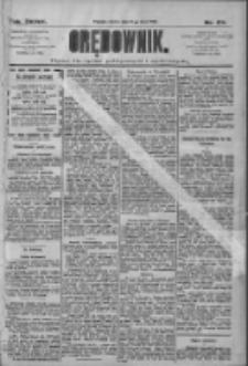 Orędownik: pismo dla spraw politycznych i społecznych 1909.07.31 R.39 Nr172