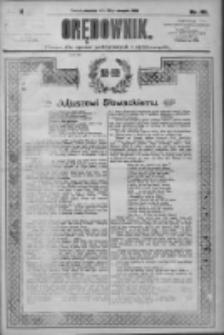 Orędownik: pismo dla spraw politycznych i społecznych 1909.08.22 R.39 Nr191