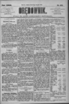 Orędownik: pismo dla spraw politycznych i społecznych 1909.08.24 R.39 Nr192