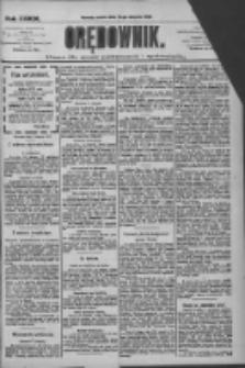 Orędownik: pismo dla spraw politycznych i społecznych 1909.08.28 R.39 Nr196