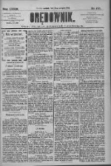 Orędownik: pismo dla spraw politycznych i społecznych 1909.08.29 R.39 Nr197