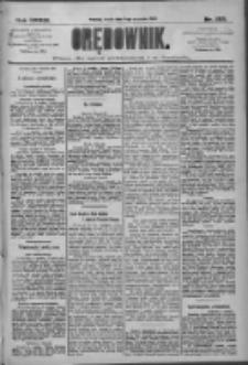 Orędownik: pismo dla spraw politycznych i społecznych 1909.09.08 R.39 Nr205