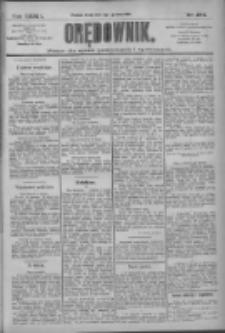 Orędownik: pismo dla spraw politycznych i społecznych 1909.12.01 R.38 Nr274