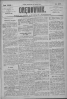 Orędownik: pismo dla spraw politycznych i społecznych 1909.12.04 R.39 Nr277