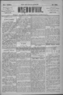 Orędownik: pismo dla spraw politycznych i społecznych 1909.12.21 R.39 Nr290