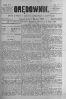 Orędownik: pismo poświęcone sprawom politycznym i spółecznym 1885.08.05 R.15 Nr176