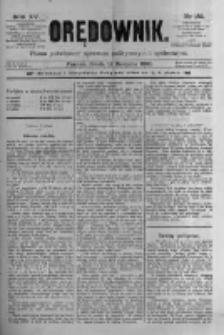 Orędownik: pismo poświęcone sprawom politycznym i spółecznym 1885.08.12 R.15 Nr182
